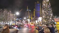 The Christmas Market at Potsdamer Platz.  Streetside looking the other way.