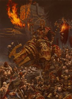ArtStation - art for games workshop publication 'warriors of chaos' internal illustration, adrian smith