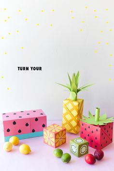 Turn your wrapping paper into fruit