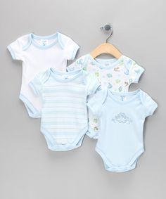Look at this #zulilyfind! Blue Dinosaur Bodysuit Set - Infant #zulilyfinds