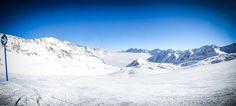 Robert Emmerich - 51 PAN Landscape shot on a lonly path over the clouds at the stubaital glacier...