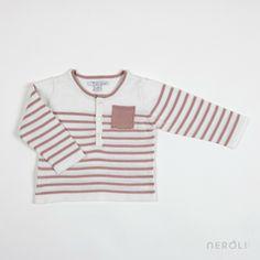 Jersey marinero rosa con manga larga y bolsillo para bebé y niña de Mon Marcel. #baby #girl #jumper #fashion #NeroliByNagore #SS14 #MonMarcel