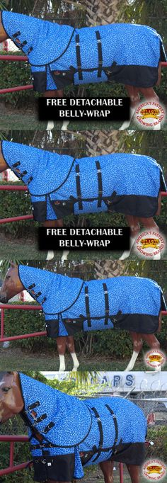 Horse Blankets and Sheets 85275: 69 Hilason 1200D 400Gsm Winter Horse Blanket Neck Cover Belly Wrap Blue Girrafe -> BUY IT NOW ONLY: $104.95 on eBay!