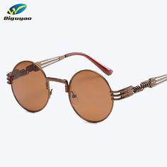 70ea3aa98563 DIGUYAO Steampunk Sunglasses Men Women Metal WrapEyeglasses Round Shades  Brand Designer Sun glasses Mirror High Quality UV400