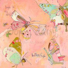 Sky High Butterflies - Bugs & Butterflies Canvas Wall Art | Oopsy daisy