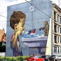 Street Art by Etam Cru in Oslo, Norway - photo from PuresilvaBannerMaker on Oslo Street Art, via Twitter
