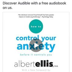For those of you who suffer from anxiety this might be a good listen on audible available through Amazon #anxiety #stress #audible #stress #mentalhealthawareness #mentalhealthawareness #mentalhealthmatters #struggle