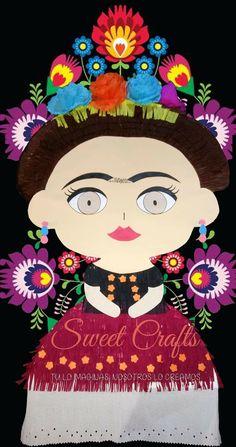 Frida Khalo Piñata 2017 #DiseñosManualesYGraficos #SweetCraftsOax #TuLoImaginasNosotrosLoCreamos