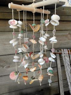 Seaside Sale. Beach Glass/Sea Shell Wind Chimes.  Beach Cottage by searchnrescue2