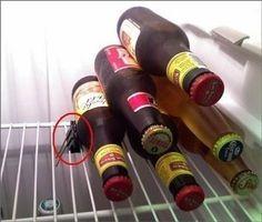 Idée toute simple pour éviter que la bière ne prenne trop de place dans le frigo !