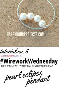 Simple is best! Love this pearl design from @happyhrprojects. #WireworkWednesday