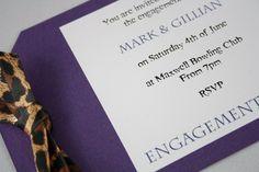 Leoaprd Print Luggage Tag Style Invitation - Vintage Wedding Stationery Scotland - VOWS Award Nominee 2013 Purple Wedding Stationery, Vintage Wedding Invitations, Vows, Scotland, Style, Swag, Purple Wedding Invitations, Outfits, Retro Wedding Invitations