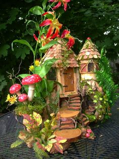 OOAK fairy house cottage dollhouse by J. McLaughlin by tyjulmere