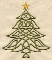 Celtic Christmas Tree. Urban Threads.