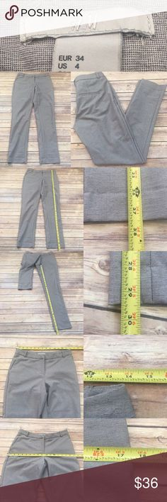 ⭐️Sz 4 H&M Slim Fit Gray Tapered Dress Pants Measurements are in photos. Normal wash wear, no flaws. A1/34  I do not comment to my buyers after purchases, due to their privacy. If you would like any reassurance after your purchase that I did receive your order, please feel free to comment on the listing and I will promptly respond.   I ship everyday and I always package safely. Thank you for shopping my closet! H&M Pants Skinny
