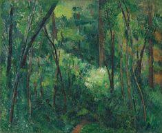 CEZANNE,1880-90 - Interior of a Forest : « Je ne pourrai souhaiter pour vous que la réussite de vos plantations et un beau développement de végétation : le vert étant une couleur des plus gaies et qui fait le plus de bien aux yeux. » (CEZANNE à Victor Chocquet, Gardanne, 11 mai 1886)