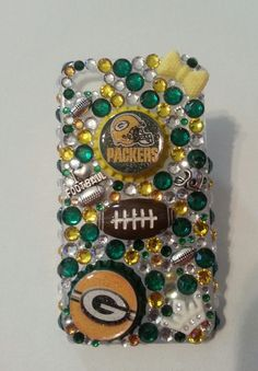 Green Bay Packers Bling Phone Case by BlinginSports on Etsy Green Bay Packers Fans, Go Pack Go, Cell Phone Cases, Galaxies, Bling, Sweet Sauce, Football Season, Iphone, Galaxy Note