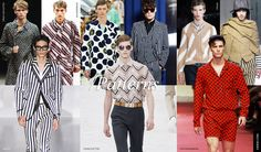 5. Men Trends Spring Summer 2015: Patterns   Patterns are back: polka dots, vertical stripes, zig zags and more. Patterns need to stick together so follow the rule of wearing them all over, like in a suit, or a more casual ensemble. Don't be afraid to mix them either.