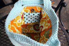 Crochet handbag lining