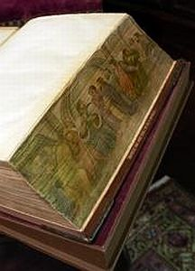 fore edge painting on pages of a book