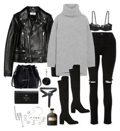 """Sem título #5345"" by fashionnfacts ❤ liked on Polyvore featuring Yves Saint Laurent, Acne Studios, Stuart Weitzman, Gucci, Isabel Marant, Topshop, Valentino and Chanel"