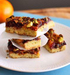 Cranberry Orange Pistachio Bars