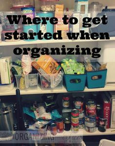 Where do you start when you're organizing? Here are easy and GREAT tips to help you know what to do...