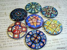 Stained Glass Magnets Stained Glass Pins by Thefaerywatcher