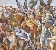 """Punishment of the Damned"" detail (1501), Luca Signorelli, fresco, Orvieto, Cathedral"