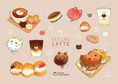 Cooking A Turkey Cute Food Drawings, Cute Animal Drawings Kawaii, Dessert Illustration, Cute Illustration, Kawaii Doodles, Kawaii Art, Chibi Food, Cute Food Art, Food Sketch
