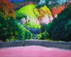 Hans Bruyneel werd in 1959 geboren in Gent. Het is alsof de kunstenaar in zijn atelier in Borgerhout, in het midden van één van de meest vervuilde, lawaaierige en versnipperde landschappen van Europa aan het acute gebrek aan open ruimte en natuur wil ontsnappen door in de voetsporen van de Amerikaanse romantische landschapsschilders, zoals Albert…