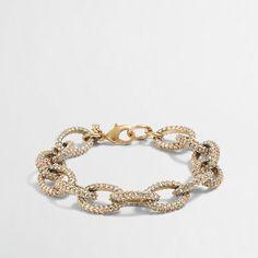 Factory gold and crystal link bracelet - $18.00