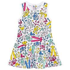Kenzo Kids White Multi Toy Print Dress