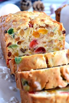 A common Christmastime tradition is fruitcake, and theres so many varieties to choose from. My version is free of alcohol and loaded with both candied and dried fruit, as well as walnuts. Christmas Apricot and Walnut Fruitcake just might be your Xmas Food, Christmas Sweets, Christmas Cooking, Holiday Baking, Christmas Desserts, Christmas Fruitcake, Christmas Fruit Cake Recipe, Christmas Bread, Christmas Cakes
