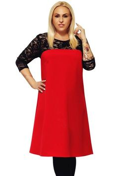 Red O Neck Lace Splice Plus Size Dress-dresses casual,style fashion,pretty casual dresses,casual day dresses,dress ideas casual,fashionable dresses,women fashion casual dresses #casualdresses #casualdressesforfall #casualdressesmodest #prettycasualdresses #streetstyle #streetwear #dresses #fashion #chicwestyle Plus Size Lace Dress, Casual Dresses Plus Size, Evening Dresses For Weddings, Maxi Dress With Sleeves, Party Gowns, Red Lace, Dress Red, Dress Ideas, Style Fashion