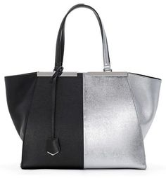 Fendi '3Jours' Bicolor Leather Shopper