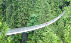 The Capilano Suspension Bridge is a simple suspension footbridge crossing the Capilano River in the District of North Vancouver, British Columbia, Canada.