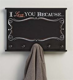 Giftcraft - Chalk Talk 5-Hook Wall Plaque Message Board