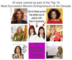 The top 10 entrepreneurs of the decade...and two of them are my partners!! Ask me about this most INCREDIBLE Business opportunity!! https://kristinkaufman.myrandf.biz/
