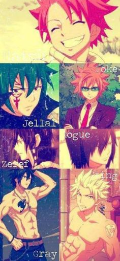 NOTICE THE LAST 2? OF NATSU HAS THE BESTEST SMILE OUT OF ALL OF THEM