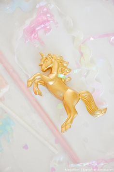 Unicorn party favors by Kara's Party Ideas #pastel