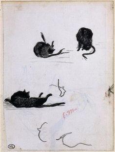 Édouard Manet Sketches of a Black Cat (1868)