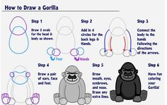 How to draw a gorilla.... for you @Emma Zangs Yoder ;)
