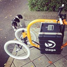 犬と子供達に大人気でした注目度ハンパないです#dagastroke #cargobike #カーゴバイク