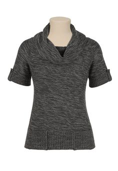 Boxy Cowl Neck Sweater with Pockets $32 #Maurices