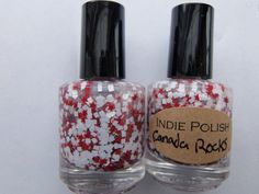 CANADA ROCKS Nail Polish   large bottle  Handmade  by IndiePolish, $8.50