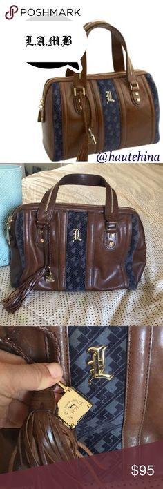 Authentic L.A.M.B leather satchel Very good condition authentic classic L.A.M.B leather and velvet bag. Medium size. Looks really nice has some marks here and there but nothing bad. L.A.M.B. Bags Satchels
