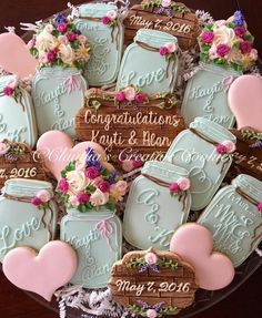 "Cookies for an ""I Do"" bbq. Congrats to the couple! - Claudia's Creative Cookies"
