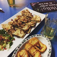 """Having a #beer chilling at #Moudi, eating grilled #Halloumi like in #Australia, but probably the #real one from #Cyprus, and """"Lebanese"""" #flammkuchen. #Hello! Great #food and #great #vibes #DJ #music #foodporn #summer #estate #lestateaddosso #awesome #timeofmylife #lavaleandherworld #Zurich #Zurigo #foodie #Lebanese #fromwhereistand #latergram #throwbackwednesday #relax Grilled Halloumi, From Where I Stand, Dj Music, Her World, Zurich, Cyprus, Chilling, Delicious Food, Food Porn"""