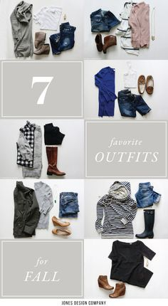7 Favorite Outfits for Fall (with sources) / jones design company..... MUST RECREATE THESE ASAP!!!!